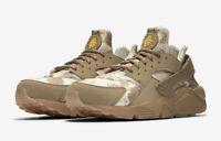 """Nike Air Huarache Run """"Desert Camo"""" Shoes Ochre Canteen Gum AT6156-200 Men's NEW"""