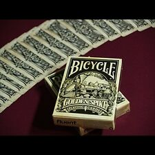 GOLDEN SPIKE BICYCLE DECK OF PLAYING CARDS BY JODY EKLUND MAGIC TRICKS RAILROAD