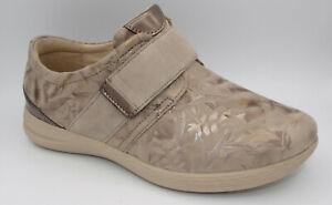 Fidelio Hallux Slipper Klettslipper Damen Schuhe taupe Weite J Neu 061/1