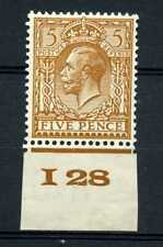5d Brown, Block Cypher Control I28 UNMOUNTED MINT / MNH. SG425.