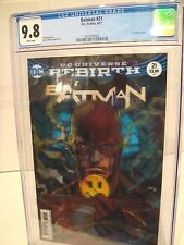 Batman #21 CGC 9.8 (2017) Lenticular Button Cover Rebirth series White pages