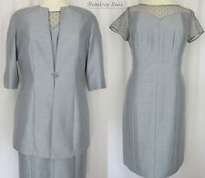 Jacques Vert Zinc Range Tailored Dress & 3/4 Jacket ~ BNWT @ £338 Size 14 (JW2)