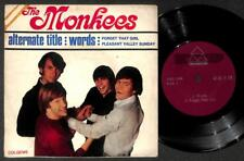 "The Monkees Mega Rare Unique Singapore Cover & Red Label EP 7"" Not LP EEP1663"