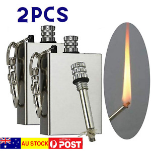 2 PCS Fire Starter Flint Match Lighter Steel Survival Camping Emergency