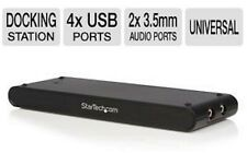 StarTech Universal Laptop USB Docking Station VGA Audio Ethernet 4x USB 2.0 port