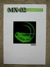 Mazda MX-02 concept brochure - c.1984