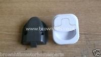 HYMER MOTORHOME CARAVAN BATHROOM CABINET DOOR HANDLE & CATCH WHITE