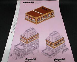* Playmobil * Bauanleitung zu Set 7411 Erweiterung zu Set 5300 Puppenhaus *