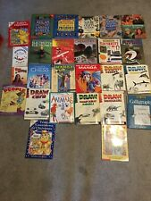 Lot Of 26 Home Schooling Activity, Craft, Drawing Books For Kids