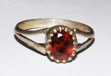 100% Natural Gomed Hessonite Garnet Gemstone Handmade 925 Silver Ring #rmc66