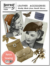 1940s Leather Hats and Bags and Accessories  Vintage Pattern