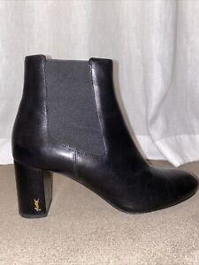 Saint Laurent Black Ankle Boots Size 39
