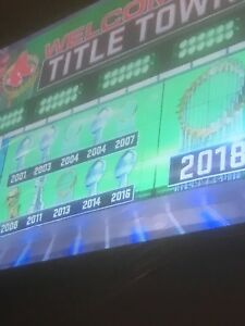 BOSTON'S SPORTS TEAMS=11 CHAMPIONSHIPS SINCE 2001=17 YRS. OF TITLETOWN-USA SIGNS