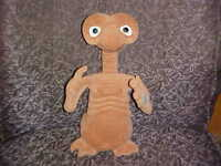 "13"" Talking E. T Extra Terrestrial Plush Toy Light Up Heart & Finger Universal"