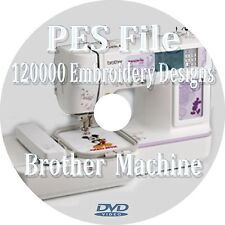 Embroidery designs 120000 + PES Files Brother machine