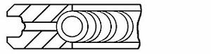1x Brand New Genuine Goetze 08-140600-00 Piston Ring Set  SMART OM660 CDI