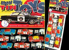 9 WUNDERSCHÖNE KLEINE BLECH AUTOS  JAPAN 60er TOYOTA MINI TIN TOY CARS IM BEUTEL