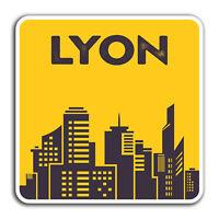 2 x 10cm Lyon France Vinyl Stickers - Fun Travel Sticker Laptop Luggage #32758