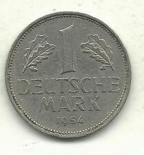 A VERY DETAILED HIGH GRADE 1954 F GERMAN - GERMANY 1 -DEUTSCHE MARK-SEP640