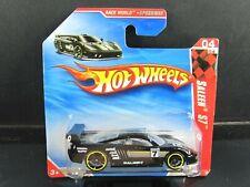 BLACK SALEEN S7 RACE WORLD SPEEDWAY 2010 SHORT CARD HOT WHEELS 1/64 DIECAST CAR