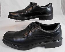 Ecco Light Shock Point Mens Dress Shoes Sz 10 Leather Lace Up Bicycle Toe Black