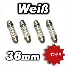 4 Soffitten  6 LED 36mm Sofitte Weiss 12V