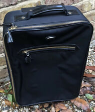 ANYA HINDMARCH BLACK MINI CABIN CARRY ON SUITCASE NYLON