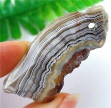 Natural Mexico Crazy Lace Agate Slab/slice Pendant Bead 47x19x5mm HP21387