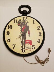 Rare Vintage Marlboro Miles Marlboro Man Wall Clock