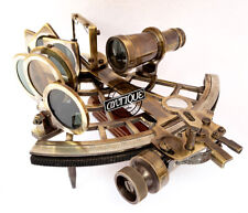 Antique Brass Working Sextant Marine Collectible Vintage Nautical Ship/Boat Gift