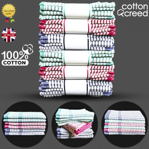 Tea Towels Wonderdry 100% Cotton Kitchen Cloths Cleaning Drying Pack of 2 5 10