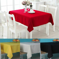 Tablecloth Table Cover Cloth Polyester Banquet Wedding Party Home Decor 110x60cm