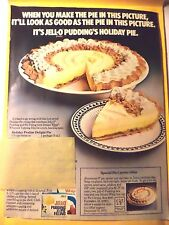 JELL-O PUDDING Magazine AD 1972 RECIPE PRALINE DELIGHT PIE VINTAGE JELLO FILLING
