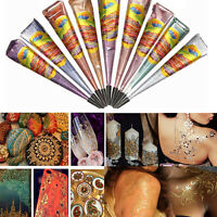 HOT!! Natural Herbal Henna Cones Temporary Tattoo Kit Body Art Paint Mehandi Ink