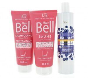 Hyaluronsäure Shampoo Anti-Gelbstich + HairBell Haar Wachstums Set