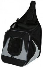 Trixie 28941 Fronttasche Savina, Nylon, schwarz/grau, 30×33×26 cm