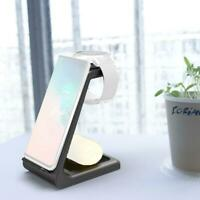 3 in 1 Wireless Charging Charger Dock Stand For iPhone Watch Black Apple X7W2