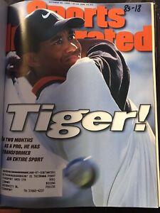 Bound Sports Illustrated Oct - Dec 1996 Tiger Woods & Derek Jeter 1st Covers