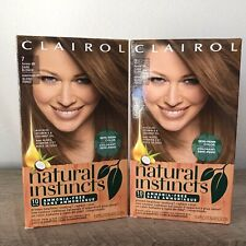 2 Clairol Natural Instincts Dark Blonde Hair Color #7 former 9N Sealed Box
