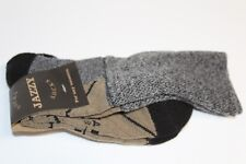 Nwt Falke grey & brown cotton blend socks adult made South Africa 8-12 woman