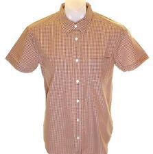 Nuovo con Etichetta da Uomo Wrangler Manica Corta Camicia a Quadri Grande