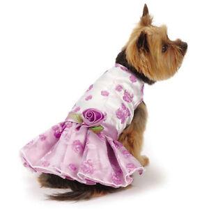 East Side Collection Elegance Rosette Dog Dress Pet Dresses Violet Pretty