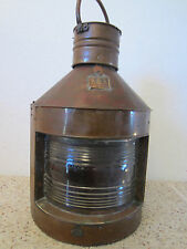 Vintage, Maritime Copper Ship'S Running Light