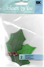 HOLLY Leaves Berries Stickers Jolee's By You Scrapbook Christmas