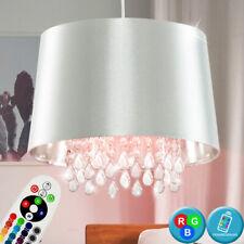 RGB LED Techo Colgante Lámpara Regulable Salón Lámpara de Cristal Control Remoto