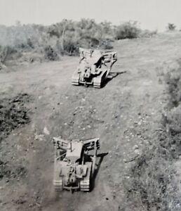 1950s Caterpillar Tractor Diesel Dozer Logging LA Forest Fire Sands Canyon Photo
