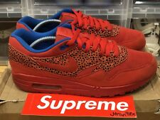 Nike Air Max 1 Red Safari Pack (W Sz 12/M Sz 10.5-11) Patta Atmos Anniversary OG