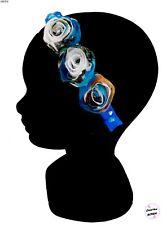 Serre tête diadème Fleurs bleues Fait Main  Accessoire cheveux Mode