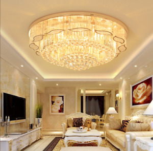 Modern Luxury LED K9 Crystal Ceiling Lamp Living Room Pendant Light Chandelier