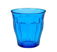 Duralex - Picardie Colored Tumbler Blue Drinking Glass, 8 3/4 oz. Set of 6
